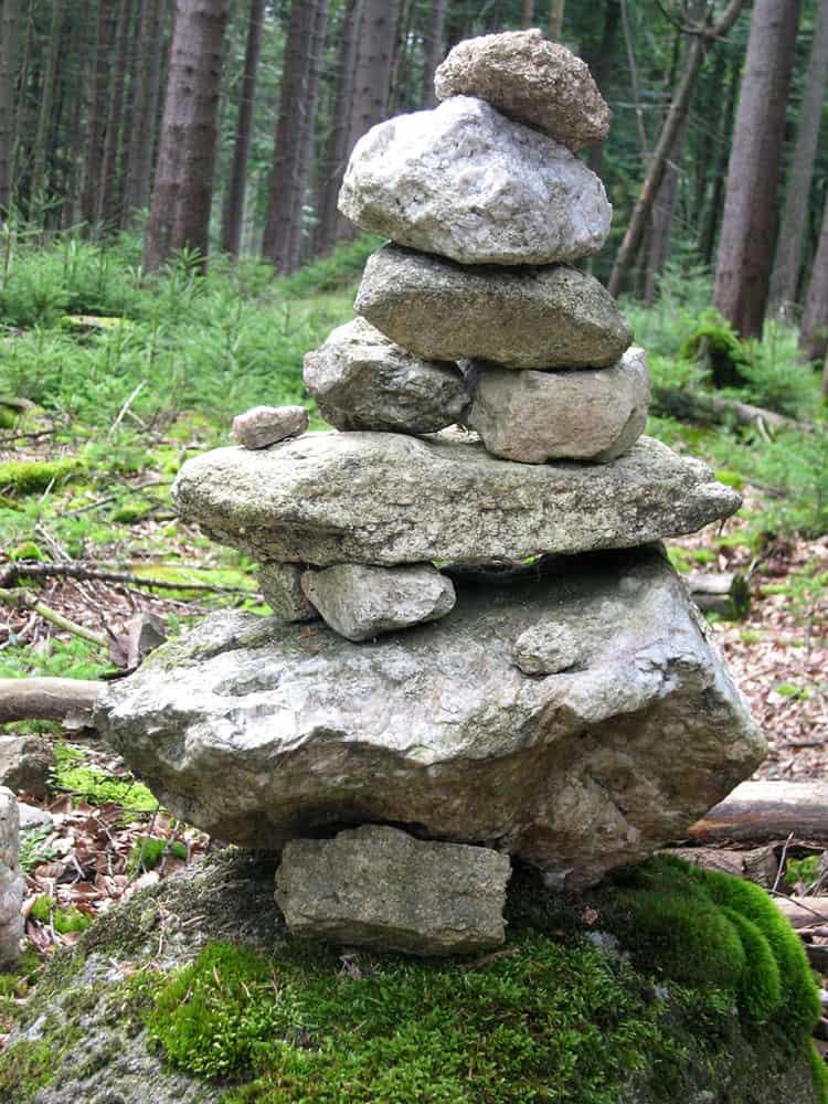 Steinmännchen beim Waldstein